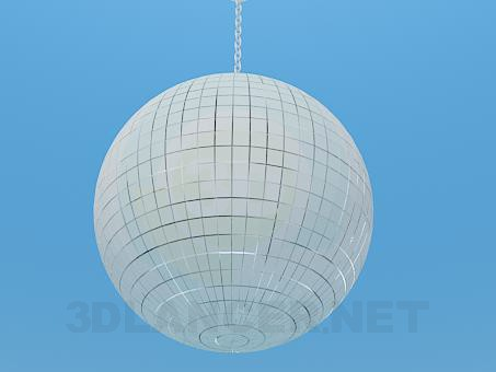 3d model Mirrored disco ball - preview