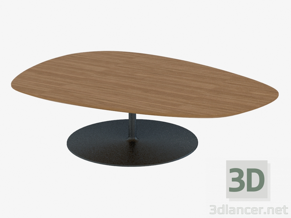3d model Coffee table on a round stand - preview