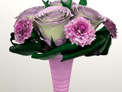 3d модель букета невест