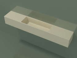 Wall-mounted washbasin Lavamani (02UL61101, Bone C39, L 120, P 20, H 16 cm)