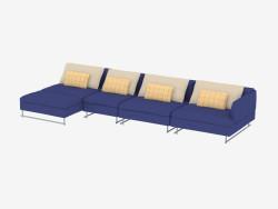 Canapé modulable à quatre places