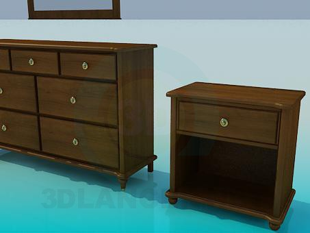 3d model Locker and cabinet - preview