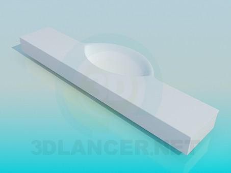 modelo 3D Lavabo con repisa - escuchar