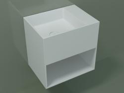 Wall-mounted washbasin Giorno (06UN23101, Glacier White C01, L 48, P 36, H 48 cm)