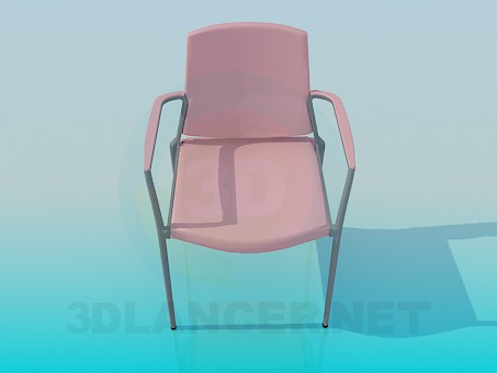 3d модель Стілець з підлокітниками – превью