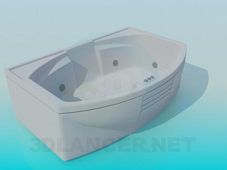 3d модель Широкая ванна – превью