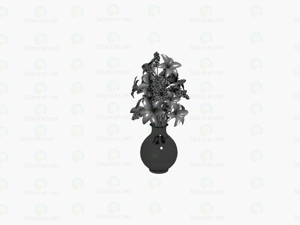 3d model florero de - vista previa