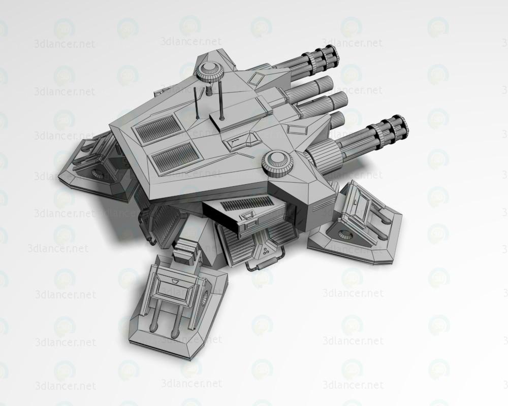 3d Heavy defensive turret model buy - render