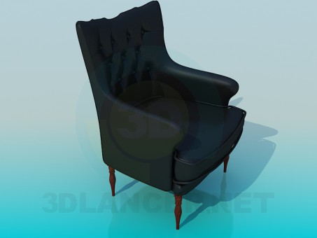 3d modeling Leather armchair model free download