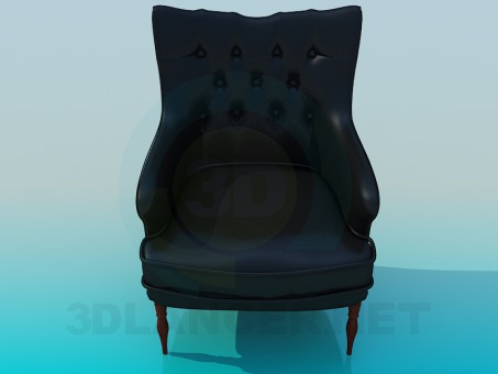 3d model Leather armchair - preview