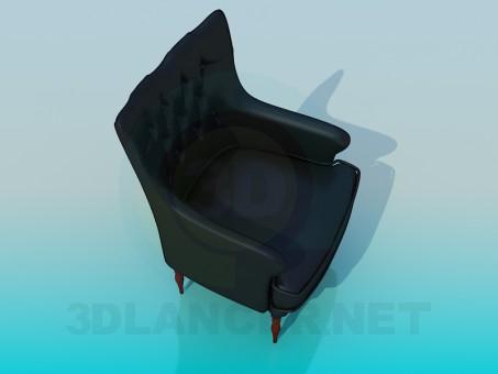 modelo 3D Sillón de cuero - escuchar