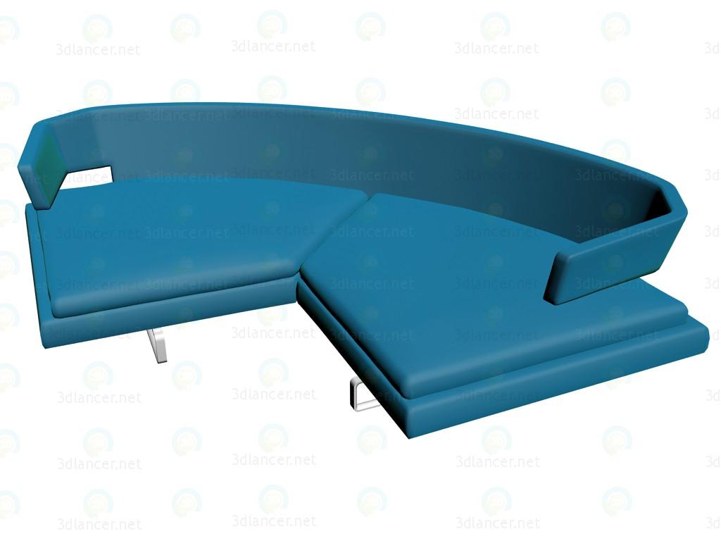 3d modell sofa ar309c vom hersteller b b italia arne id 14136. Black Bedroom Furniture Sets. Home Design Ideas