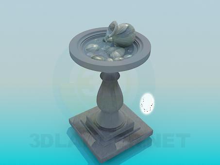 3d model Fountain park - preview