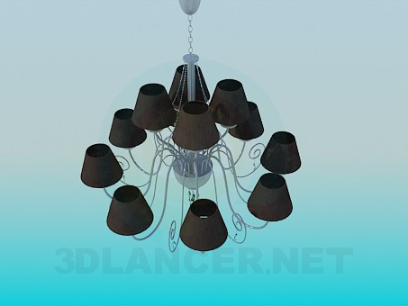 3d modeling Classic chandelier model free download