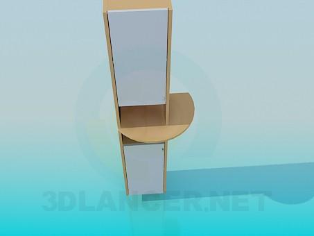 3d modeling Cabinet with shelf model free download