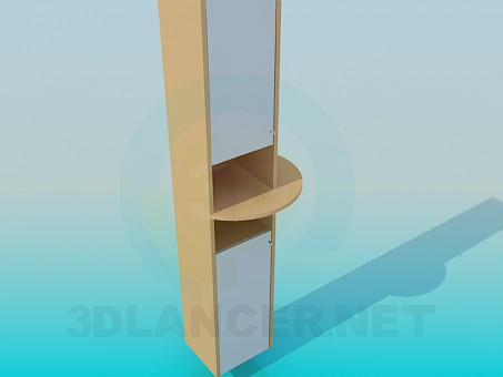 3d model Cabinet with shelf - preview