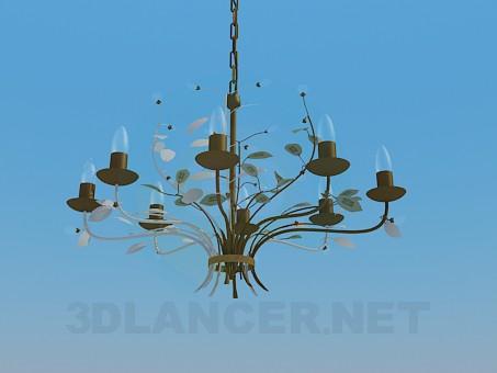 3d модель Люстра на ланцюжку – превью
