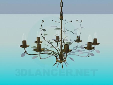 3d модель Люстра на цепочке – превью