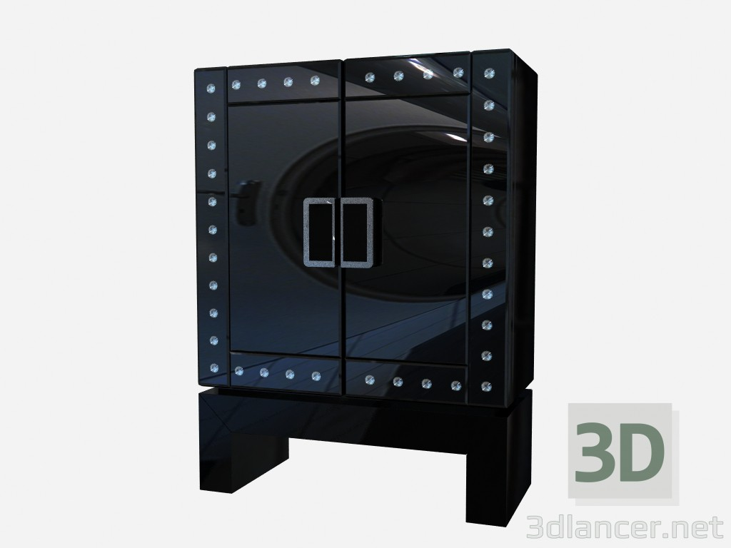3d model Glass Art Deco chest Redman - preview