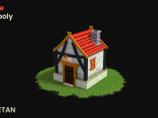 Recurso de jogo 3D Fantasy House - LOW POLY