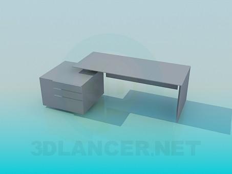 3d modeling Desk model free download
