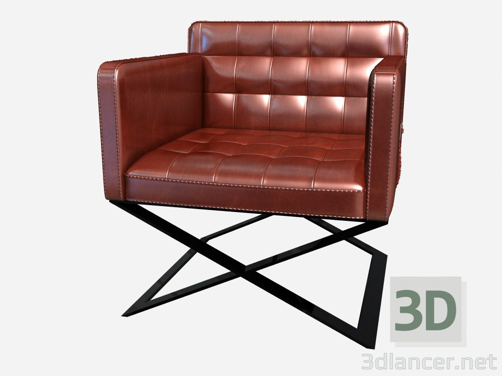 Incredible 3D Model Leather Chair On The Cross The Metal Legs Respighi Ocoug Best Dining Table And Chair Ideas Images Ocougorg