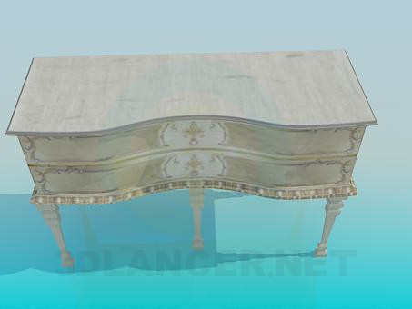 3d modeling Antique chest of drawers model free download