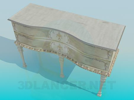 3d model Antique chest of drawers - preview