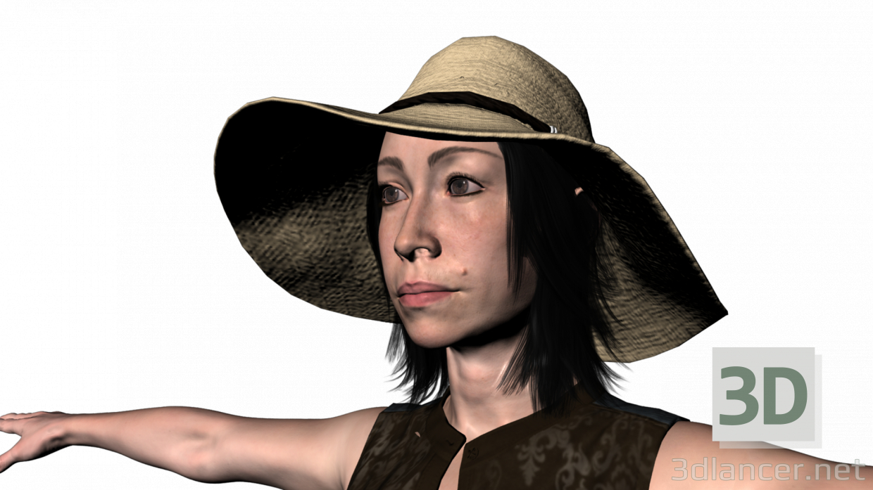 3d Mia farmer model buy - render