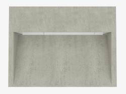 स्तंभ प्रकाश कंक्रीट बॉल H250mm (C8101W)