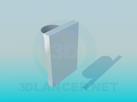 3d model Glass wall - preview