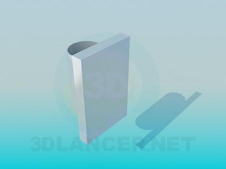 modelo 3D Pared de cristal - escuchar