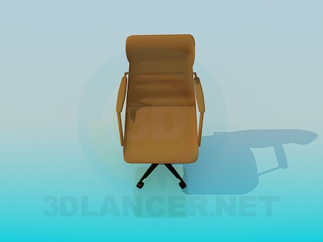 3d модель Кресло в рабочий кабинет – превью