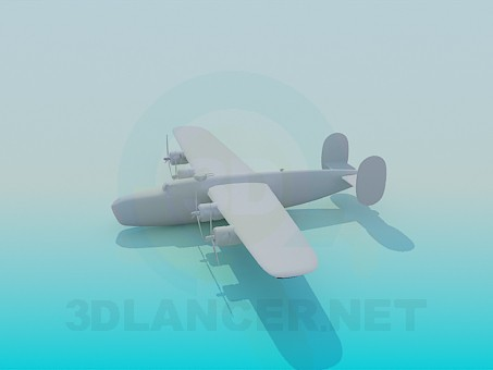 3d модель Военный самолет – превью