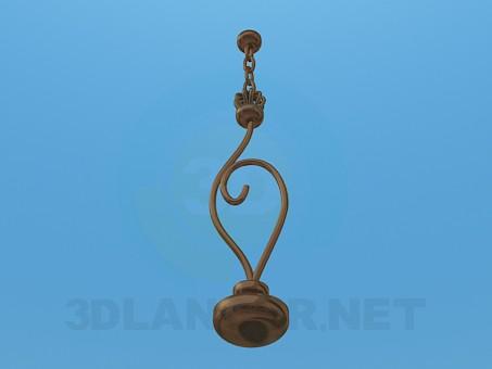 3d модель Светильник под одну лампу – превью