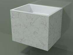Lavabo suspendu (02R133301, Carrara M01, L 60, P 48, H 48 cm)