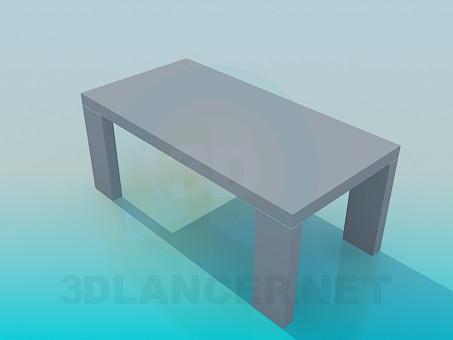 3d модель Стіл на широких ніжках – превью