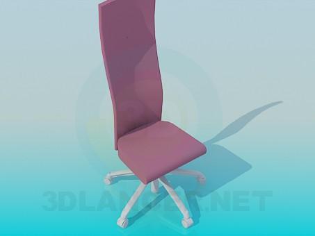 3d модель Жіночий стілець на коліщатках – превью