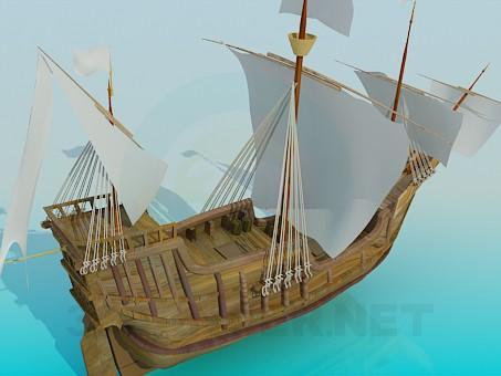 3d модель Корабль парусный – превью