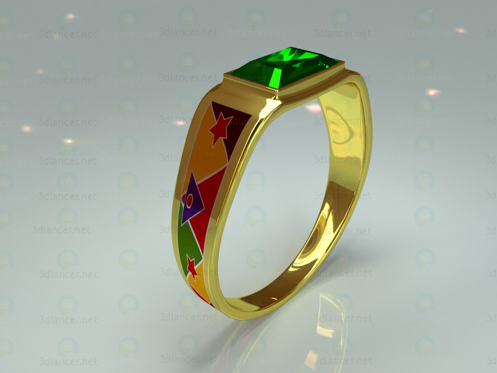 "3d model Ring ""April"" - preview"