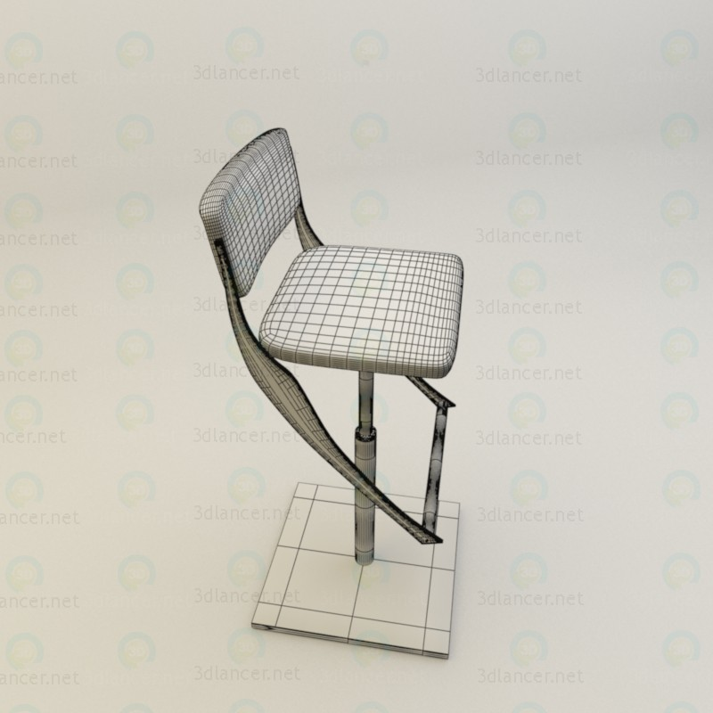 3d Bar stool model buy - render