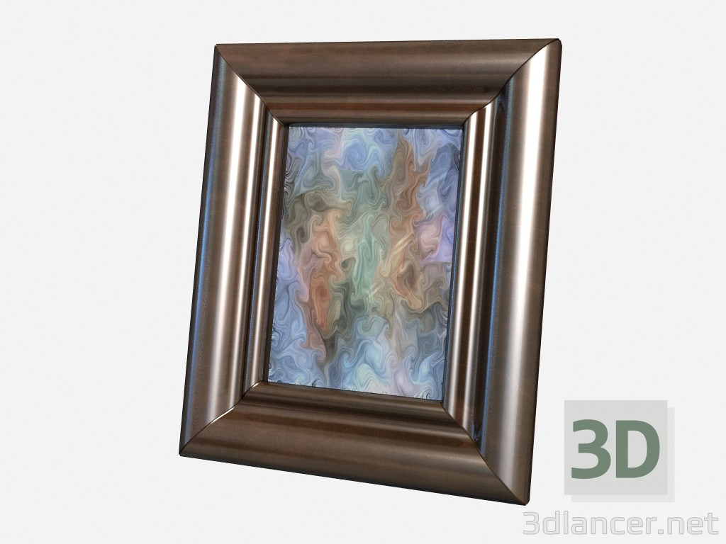 3d model Small picture frame Decor Small leather photo frame - preview
