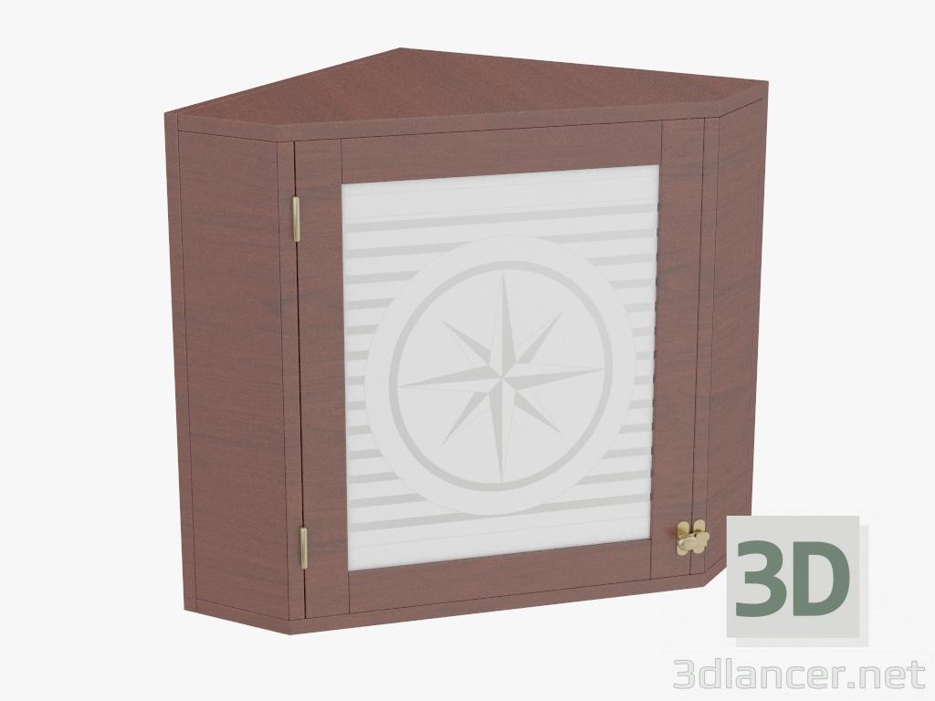 3d Model Corner Cabinet With Glass Door Manufacturer Caroti Id 21014