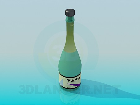 3d modeling Bottle of Wine model free download