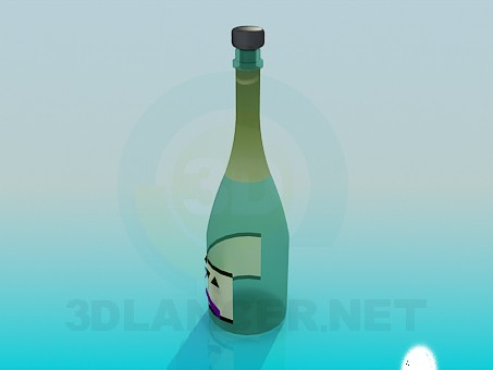 3d model Bottle of Wine - preview