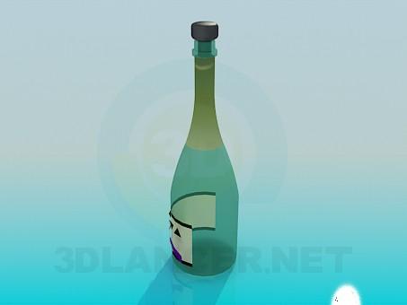 3d модель Бутылка для вина – превью
