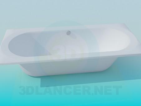 3d модель Ванна стандартная – превью
