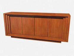 Peito de Art Deco de madeira horizontal Rollins