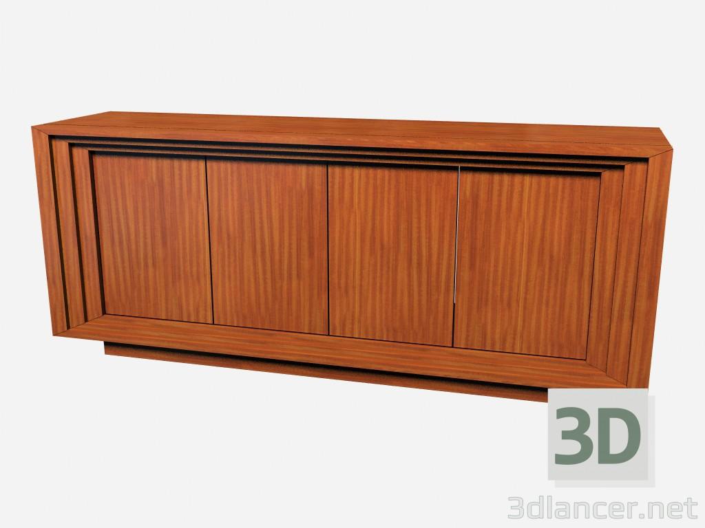 3d моделирование Горизонтальный деревянный комод в стиле арт деко Rollins модель скачать бесплатно