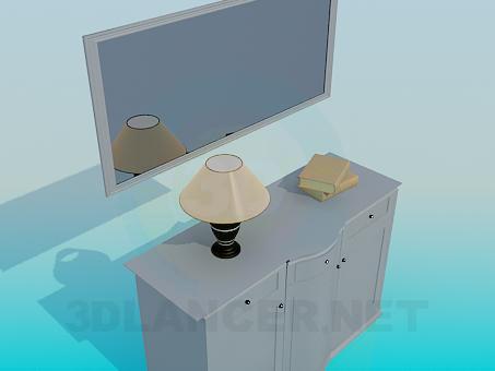 3d модель Комод с зеркалом – превью